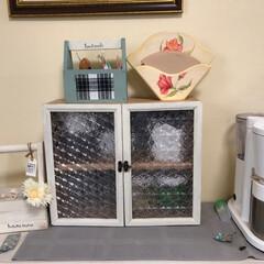ミニ食器棚/nikoさん/オイルペイント/diygirl nikoさん  のミニ食器棚を参考に幅を…