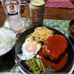 JIM BEAM/料理/ハンバーグ定食 今週の料理🍳🔪  休みのひそかな楽しみに…(1枚目)