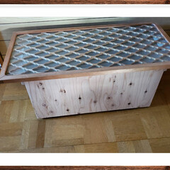 収納/DIY/簡単 テーブル&収納  実家でリフォームの際に…