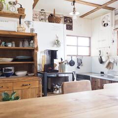 セルフリノベ/DIY/100均/セリア/ダイソー/リフォーム/... 築41年のおうち。食器棚、収納棚、キッチ…