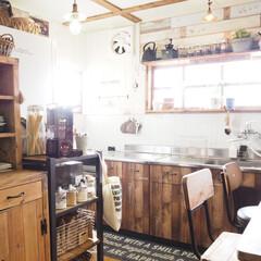 古い家/築41年/収納棚DIY/食器棚DIY/シンク扉リメイク/キッチン/...