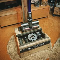 ダイソンコードレス掃除機/DIY/掃除/ツール収納BOX付き/オールドウッドワックス/男前/...