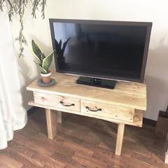 テレビボードDIY/テレビボード/100均/セリア/インテリア/DIY/... SPF材でテレビボードを作りました!  …