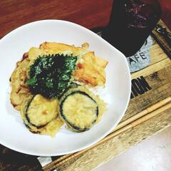 天丼/3COINS/スリーコインズ/節約/おうちごはん/晩ごはん/... いつかの晩御飯♡ スリーコインズの深い…
