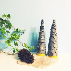 チラシ/広告/フェルト/クリスマスツリーハンドメイド/クリスマスツリー/リミアの冬暮らし/... もうひとつツリーを作りました!  中身は…