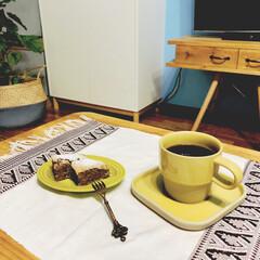 コーヒーのある暮らし/ブラジル豆/ココアバナナケーキ/おうちカフェ/次のコンテストはコレだ!/キッチン雑貨/... ココアバナナケーキを焼きました🧁  コー…