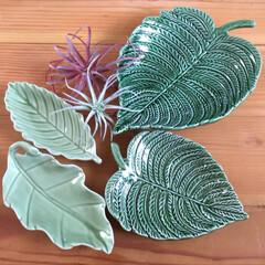 お皿/葉っぱ型のお皿/アフタヌーンティ/ニコアンド 葉っぱ型のお皿 少しずつ集めています♡ …