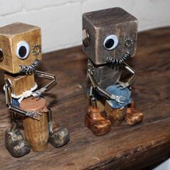 雑貨/端材/太鼓/ロボット 太鼓を叩くロボットを作りました♪