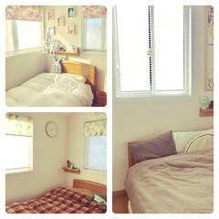 窓/寝室/インテリア ミニマムな我が家(^^) 窓際はスッキリ…