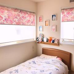 娘の部屋/インテリア 娘の部屋 お花畑をイメージして 明るく✨…