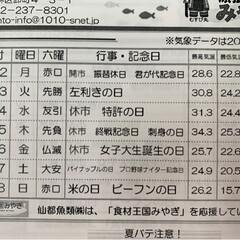 仙台市場情報紙 仙台 朝晩は少し涼しさを感じる季節 お…