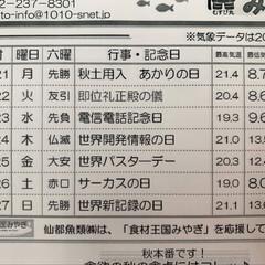 仙台市場情報紙/水産🐟情報紙 秋も深まって 茹で栗🌰蒸し里芋etc …