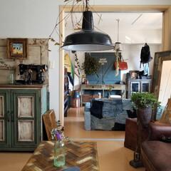 雑貨/インテリア/家具/住まい/ファッション/ハンドメイド/... リビングから見る一室 家具は全て作りペイ…