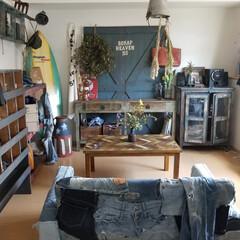 サーフ/雑貨/家具/住まい/収納/ファッション/... 6畳アパートのコーディネート