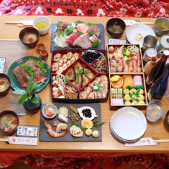 おせち料理/お正月/フード 明けましておめでとうございます🎍  今年…