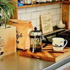 こだわり/DIY/男前/キッチン/カフェ 我が家にはドリッパーやフレンチプレスなど…