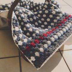 あずき堂/手編み/ブランケット/雑貨/ハンドメイド 今年も編み物の季節。  春にオーダーいた…