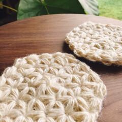 リフ編み/編み物/ポットマット/ハンドメイド オーダーいただいたリフ編みのポットマット…