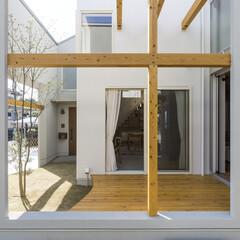 ウッドデッキ 『窓の家』宇治の家 本計画は、宇治市の宅…