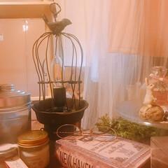 ターナー水彩/アイアンペイント/樹脂粘土/簡単DIY/家にあるもので/ワイヤークラフト/... 鳥かご風間接照明をDIY^^*  最初、…