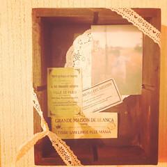フレンチシック/大人ガーリー/壁ディスプレイ/不用品リメイク/木箱リメイク/エイジング加工/... 要らなくなった木箱に、オイルステインウォ…