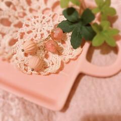 ピアスファッション/可愛い/大切なもの/お守り/宝物/ピンク/... 以前、ハンドメイドサイトで作って頂いたピ…