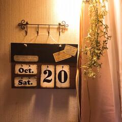 壁飾り/壁掛け/画用紙/リメイクシート/フリー素材/段ボール/... 万年カレンダー作りました.+*:゚+。.…