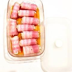 ベーコン巻き/えのきを使ったレシピ/レンジで簡単/レンジ調理/お弁当おかず/おすすめ/... お弁当おかずや、あと一品欲しい時に レン…(1枚目)