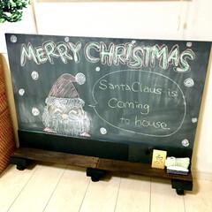 塗っと板チョークボード/落書き/お絵かき/黒板/チョークボード/100均リメイク/... クリスマスがやってきた!コンテストに参加…