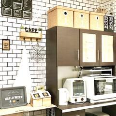 ドリテック 電気ケトル ラミン ホワイト PO-323WT | ラミン(電気ケトル)を使ったクチコミ「ハロウィン仕様の キッチン背面インテリア…」