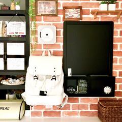 カフェ風インテリア/ガストンルーガ/モノトーン雑貨/北欧雑貨/リュックサック/バックパック/... カフェ風にDIYしたキッチンカウンターの…