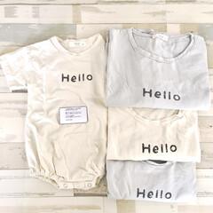 韓国子供服/ネットショッピング/おうち時間/Tシャツ/お揃いコーデ/親子リンクコーデ/... こんにちは♪  GW明けにネットショッピ…(1枚目)