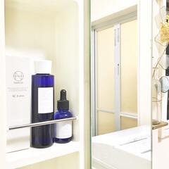 すっきり暮らす/シンプルインテリア/NANOA/美容液/化粧水/スキンケアアイテム/... 洗面所スッキリ化計画。  2016年に建…