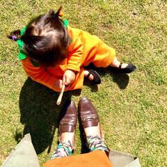 リンクコーデ/親子/ハロウィンコスチューム/ハロウィン仮装/かぼちゃ/秋色ファッション/... 今日は息子(4)の習い事で ハロウィン仮…