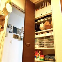 可動式棚/収納見直し/折れ戸収納/デッドスペース収納/デッドスペース活用法/デッドスペース活用/... 玄関ホールの折れ戸収納の見直しをしました…(1枚目)