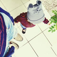 お揃いコーデ/リンクコーデ/こどものいる暮らし/女の子ママ/1歳/娘と一緒/... 秋はボーダーカットソーをよく着ます。  …