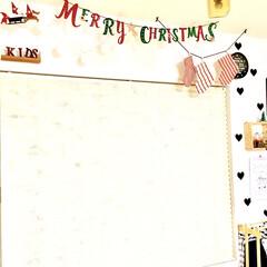 建売住宅/リビング/キッズスペース/こどものいる暮らし/クリスマスインテリア/サンタクロース/... クリスマスがやってきた!コンテストに参加…(1枚目)