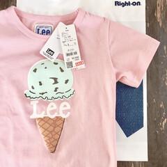 夏セール/アイスクリーム/ライトオン/LEE/Tシャツ/女の子コーデ/... おうち時間が多かったからか この夏は子ど…