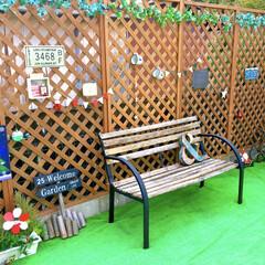 ガーデン/防水/アイビーガーランド/パークベンチ/クリスマス仕様/子どものいる暮らし/... わたしのDIYコンテストに参加します♪ …