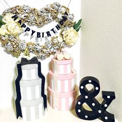 おうちスタジオ/おうちフォト/バースデーフォト/誕生日フォト/誕生日ケーキ/バースデーケーキ/... 誕生日フォトアイデアです。  最近、ママ…
