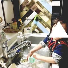 ありがとう/洗い物/お手伝い/年少さん/4歳/息子/... 昨日の夜の出来事。  片頭痛持ちの私は …
