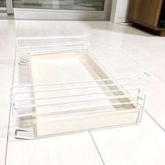 引き出し収納/引き出しDIY/収納術/収納アイデア/隙間収納/レジ袋収納/... レジ袋を三角形に折り畳んで保管されている…