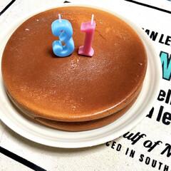 ホットケーキミックス/こどものいる暮らし/バースデーケーキ/チーズケーキ/うちの定番料理/おうちごはん/... うちの定番スイーツ♡  ホットケーキミッ…