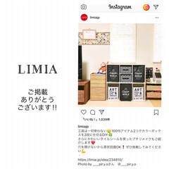 感謝/Instagram/掲載/モノトーン雑貨/モノトーンインテリア/カラーボックス横置き/... 昨日の夜、LIMIAのInstagram…(1枚目)