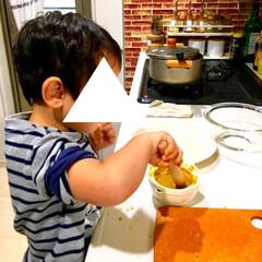 簡単レシピ/甘党/お菓子作り/手作りおやつ/手作り/クッキング/... ハロウィンが近付くと毎年作るのが かぼち…(2枚目)