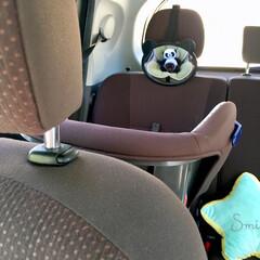 妊娠中/出産準備/新生児/バースデイ/シンプルデザイン/便利グッズ/... 後部座席のチャイルドシートに パンダ発見…