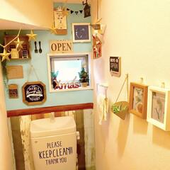 カフェ風インテリア/壁紙屋本舗/壁紙DIY/DIY女子/クリスマスインテリア/クリスマス仕様/... クリスマス仕様に 模様替え中のトイレです…