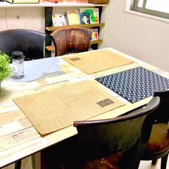 天板/ダイニングテーブル/原状回復/ランチョンマット/LIMIAな暮らし/DIY/... 少し前にDIYした ダイニングテーブルの…