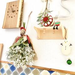 クリスマス仕様/クリスマスインテリア/クリスマス雑貨/サンタクロースとトナカイ/雪だるま/ハンドメイド雑貨/... クリスマスがやってきた!コンテストに参加…