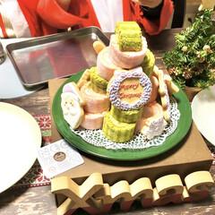 こどものいる暮らし/アイシングクッキー/ロールケーキ/クリスマスケーキ/クリスマスパーティー/クリスマス2019/... 昨日と一昨日に投稿した 可愛すぎるアイシ…